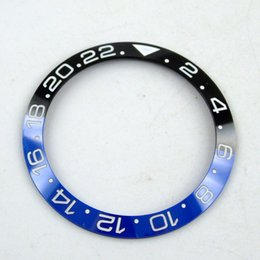 Parts marking online shopping - 38mm black and blue ceramics bezel white marks fit for mm SUB GMT men s watch Q03
