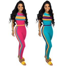 cycling sexy 2019 - Womens sportswear fashion printed sleeveless outfits 2 piece set sexy tracksuit jogging sport suit sweatshirt tights spo