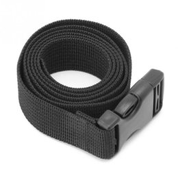 Wholesale Outdoor Luggage Bag Mattress Long Black Lash Nylon Strap with Quick Release Buckle Tied Band Fixed Belt Tools