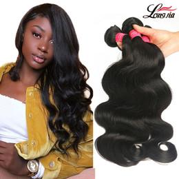 Discount cheap virgin hair bundles - Grade 8A Brazilian Body Wave Unprocessed Brazilian Virgin Hair Body wave Human Hair Extension Cheap Peruvian Malaysian H