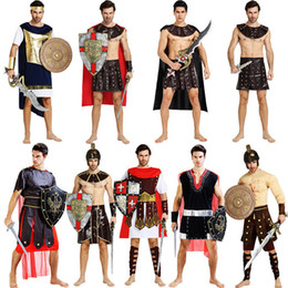 warrior costume men Australia - 6Style Medieval Cosplay for Ancient Roman Samurai Warrior Costumes Traditional Fighting Halloween Adult Men Clothing