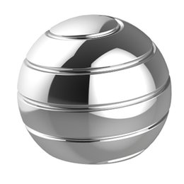 Discount gyroscope gyro Optical Kinetic Spinning Tops Spherical Rotating Gyro Metal Kids Desk Ball Finger Gyroscope Decompression Toy Illusion F