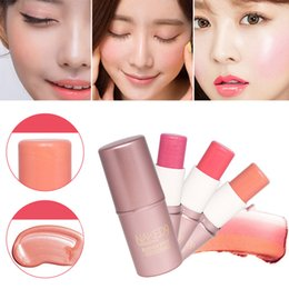 Wholesale Make Up Cheek Blush Cream Peach Palette Professional Face Texture Baked Blusher Smooth Powder Base Facial Beauty Cosmetic Tool