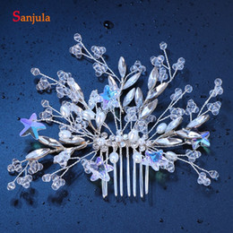 $enCountryForm.capitalKeyWord Australia - Twinkle Stars Party Hair Combs For Evening Prom Headpieces Crystal Bridal Wedding Head Accessory