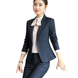work office clothes women Australia - New Suit Women Temperament Long Sleeved Business Interview Office Ladies Blazer, Pants Large Size Work Clothes Costume Femme