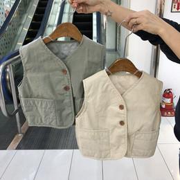 $enCountryForm.capitalKeyWord Australia - 2019 New Girls Boys Knitted Vest Autumn Kids Waistcoat Baby Clothes 2-7 years