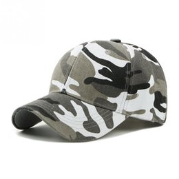 a73a3ee9358 2019 Men Women Army Camouflage Camo Cap Casquette Hat Climbing Baseball Cap  Hunting Fishing Desert Hat