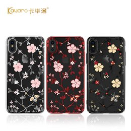34f32d0a5be Original KAVARO Diamond Case For iPhone X Fundas Flower Phoenix Crystals  from Swarovski Back Cover For iPhone 8 7 Plus Case Bag