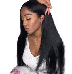 26 Inch Straight Wigs Australia - Mongolian Virgin Hair Straight Full Lace Wigs Glueless Lace Front Human Hair Wigs 6-26 inch Pre Plucked Hairline Ping
