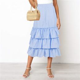 $enCountryForm.capitalKeyWord NZ - Womens Summer Designer Solid Color Cupcake Dresses Fashion Knee Length Beach Style Loose Pretty Casual Apparel