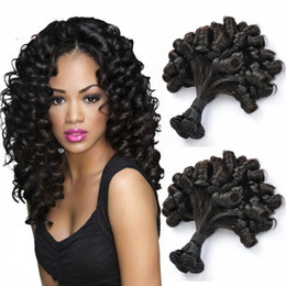 double drawn hair extensions wholesale Australia - China Funmi Hair Super Double Drawn Remy Human Hair Extensions Virgin Brazilian Bundles with closure for sale