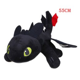 train dragon toothless plush toy Australia - Good 5pcs 55cm 21.6inch Toothless Night Fury Plush Toys How To Train Your Dragon Soft Stuffed Animal Doll Juguetes De Peluches J190506