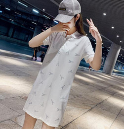 $enCountryForm.capitalKeyWord Australia - Sales 2019 women's spring and summer new fashion casual sports hot drilling simple slim short-sleeved polo skirt T-shirt dress