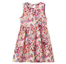 $enCountryForm.capitalKeyWord Australia - Summer new style children's pure cotton dress baby air cotton silk skirt child princess skirt broken flower vest skirt