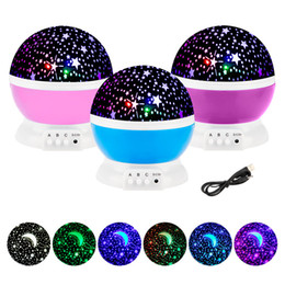 baby night stars projector Australia - Stars Starry Sky LED Night Light Rotating Projector Lamps Bedroom Bedside Lights For Children Baby wedding party Christmas decorations gifts