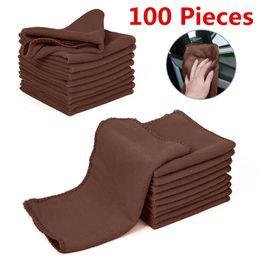 $enCountryForm.capitalKeyWord Australia - 100 pieces Microfiber Car Wash Towel Soft Cleaning Car Care Cloths Wash Towel Duster 9.84'' x 9.84''Inch Microfiber