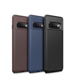 Chinese  Shockproof Phone Case For Samsung Galaxy S10 S10E S10 Plus M20 A30 A50 A70 Carbon Fiber TPU Phone Case For iphone XS MAX XR X manufacturers