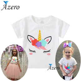$enCountryForm.capitalKeyWord Australia - 2019 Kids Girls T-shirts Summer Baby Boys Cotton Tops Toddler Tees Clothes Children Clothing White Unicorn T Shirts Short Sleeve