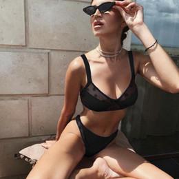 $enCountryForm.capitalKeyWord Canada - Fashion Sexy Mesh Bikini Push Up Dot Print Padded Two-piece Swimsuit Solid High Elastic Swimwear Women Quick Dry Bathing Suit DBC DS0409-1