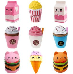 $enCountryForm.capitalKeyWord Australia - Free Ship 10pcs Mixed Jumbo Squishy Popcorn Bread Milk Icecream Slow Rising Relieve Stress Cake Sweet Food DIY Phone Strap Pendant Toy Gift