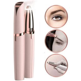 Brow razors online shopping - Mini Electric Eyebrow Trimmer Lipstick Brows Pen Hair Remover Painless Eye brow Razor Epilator with LED Light OPP Package