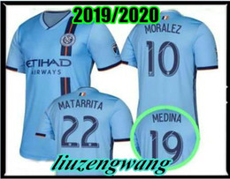 adf8db2be nycfc 2019 2020 New soccer jersey home 2019 MLS LAMPARD 8 PIRLO 21 MCNAMARA  MORALEZ DAVID VILLA 7 football shirts top quality