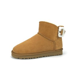 $enCountryForm.capitalKeyWord Australia - Furry Snow Boots for Sale Genuine Leather Ankle Boots with Furry Buckle High Quality Wholesale Snow Boots for Small Quantity