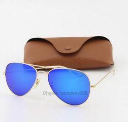 $enCountryForm.capitalKeyWord NZ - Discolour Glass Lens Sunglasses Men Women Circle Sun Glasses Designer High Quality Eyewear Goggle Mirror With Brown Case sunglasses G0255