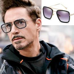 $enCountryForm.capitalKeyWord Australia - Men Vintage Steampunk Sunglasses Brand Designertony Stark Iron Man Goggles Retro Windproof Steam Punk Sun Glasses Uv400