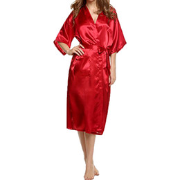 Fashion 2019 sexy bath kimono robe sleepwear bridesmaid Vintage lingerie  night robes dressing gown bathrobe satin robe szlafrok 129606c1b