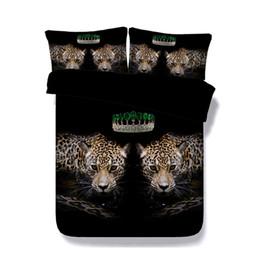 Leopard Print Comforters Australia - Black Bedding Animal Leopard Duvet Cover Set 3 Pieces Comforter Cover Sets 2 Pillow Shams Gift For Teen Boys Kids Bedding Set Animal Bed Set