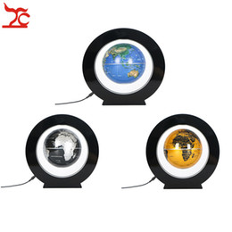 Chinese  Portable Round Magnetic Floating Globe Display Holder Domestic Store Desk Promotion Decor Levitation World Map LED Gift Stand manufacturers