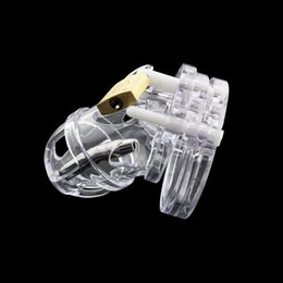 $enCountryForm.capitalKeyWord Australia - Male Chastity Device with Catheter, Penis Lock Cock Cage, Adult Game Penis Cock Ring Sex Toys For Men