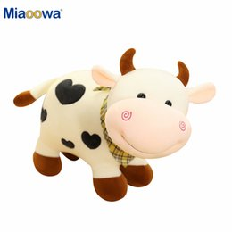 soft toy cow NZ - 25 30 40cm 2020 New Plush Cow Toy Cute Cattle Plush Stuffed Animals Cattle Soft Doll Kids Toys Birthday Gift for Children