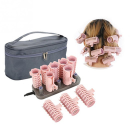 $enCountryForm.capitalKeyWord Australia - 10pcs set Professional Electric Heated Hair Rollers Curling Roll Hair Tube Roller Curlers Volume Hair Curly Styling Tool + Case SH190726