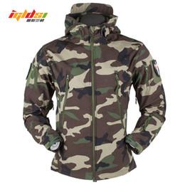 Soft Skin tactical jacket online shopping - Shark Skin V5 Soft Shell Tactical Military Jacket Men Waterproof Winter Fleece Coat Army Windbreakers Camouflage Jackets XS XLMX190828