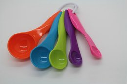 Best Kitchen Sets Australia - Hot 5Pcs Kitchen Measuring Spoons Set Best Multi-Function Colorful Rainbow Measuring Cups Baking Utensil Set Measuring Tools DHL Free