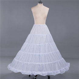 Discount weave long - 5 Hoop Crinoline Long Wedding Dress Petticoat Underskirt Bridal Ball Gown Jupon Marriage 2019 A line Skirts Slips New CP