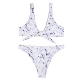 f9148ea5ec605 Women's one-piece Binding marble print swimsuit sport style quilt cover  Push up Padded Bra bearwear Swimwear Set 40mr14