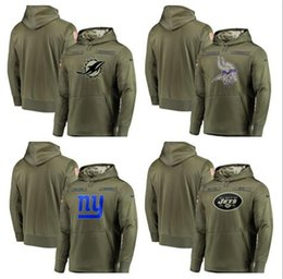 $enCountryForm.capitalKeyWord Australia - 2019 New Style Miami Minnesota York Men Giants Jets Vikings Dolphins Olive  Sideline Pullover Hoodies