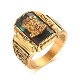 $enCountryForm.capitalKeyWord Australia - Fashion Vintage Gold Metal Black Blue Red Crystal Ring 1973 Walton Tigers Navy Signet Rings for Men Male Boho Jewelry Size 7-15