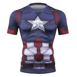 873667324ac53 New Captain America 3D Printed T-Shirt Men Compression Men T Shirt  Superhero Marvel Funny Fitness Clothing Crossfit Tops & Tees