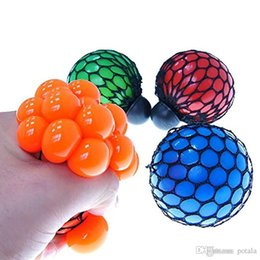 small fidget toys NZ - 5CM&6CM Stress Ball Squishy Toys Grapes Novelty Squeezes Jouets pour enfants Anti-anxiety kids Fidget Toy Small&Big Squishy Stress Relief