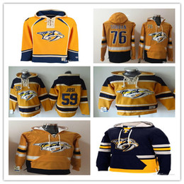 Wholesale Nashville Predators Hoodie P K Subban Filip Forsberg Mike Fisher Pekka Rinne Josi Hockey Sweatshirt Yellow Men s Customized