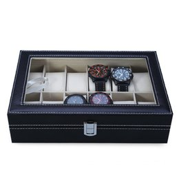 12 Watch Display Storage Box Australia - 2019 High Quality PU Leather 12 Slots Wrist Watch Display Box Storage Holder Organizer Watch Case Jewelry Dispay Box