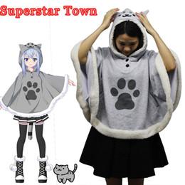 $enCountryForm.capitalKeyWord Australia - cosplay hoodie Neko Atsume Cat Backyard Cosplay Cloak Cute Japanese Cartoon Warm Costume Hoodies With Tail Kawaii Daily Fleece Coat