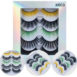 $enCountryForm.capitalKeyWord Australia - 5 Pairs Pack Eyelashes 3D Mink Lashes Crisscross False Eyelash Hand Made Eye Lashes Printed Logo