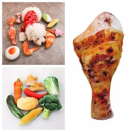 $enCountryForm.capitalKeyWord Australia - Pet Dog Cat Chew Toys with Sound Creative Artificial Vegetable Bone Bread Food Bite Resistant Toys for Pets