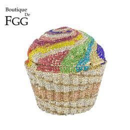 $enCountryForm.capitalKeyWord Australia - Boutique De Fgg Women Fashion Cupcake Crystal Clutch Evening Bags Wedding Party Bridal Diamond Minaudiere Handbag Clutches Purse Y190626
