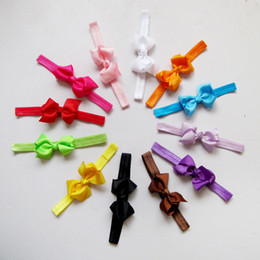 Discount infant girl accessories Baby Bowknot Hair Ribbon Bows Elastic Band Hair Band Skinny Stretchy toddler infants Girl Headband Hair Accessories